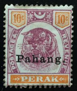 Malaya Pahang 1898 opt Perak Tiger 10c MH SG#19 M2015