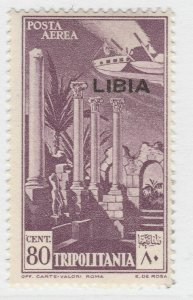 Italy Colony Air Post Libia 1940-41 80c MNH** Signed A19P1F77