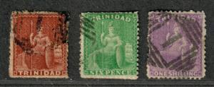 Trinidad Sc#45-47 Used/F, Complete Set, Cv. $391.50