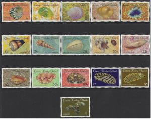 Cocos (Keeling) Island #135-50 MNH set, various sea shells, issued 1985-6