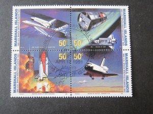 Marshall Island 1991 394a space set FU