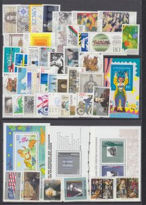 Z4118  various 1993-5 germany sets sets of 1  4 s/s mnh lot all checked