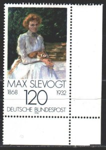 Germany. 1978. 988 from the series. Painting, impressionism, Max Slevogt, lad...