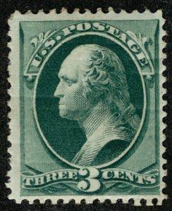 #158  Scott CV $200  #158 F/VF OG H, deep rich color, Fresh Stamp!