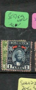 ZANZIBAR  (P2305B)  YOUNG SULTAN  1/2A +1A SG 178-9   VFU