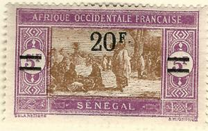 Senegal Sc #137 F-VF Mint OG hr French Colonies are Hot!