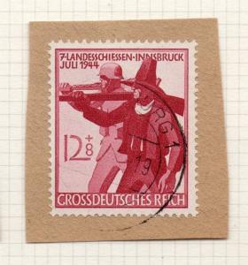 1944-45 GERMANY used in LUXEMBOURG Fine Used 12p. Postmark Piece 241827