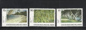 Cocos Islands #159-61 comp mnh Scott cv $8.00 Golf Course