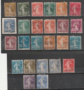 #156-169,173,177,178-80 France Used Sower