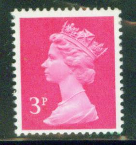 Great Britain Scott MH37 3p MNH** Machin stamp