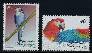 Macedonia 511-2 MNH Birds, Parrots