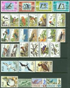 BRITISH COMMONWEALTH  Bird Topical Nice clean collection of sgls & sets Cat $215
