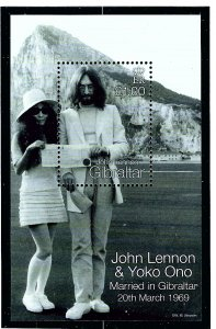 Gibraltar 805 MNH 1999 John Lennon S/S