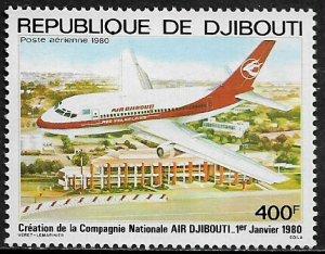 Djibouti #C132 MNH Stamp - Air Djibouti - Airplane