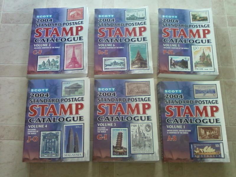 2004 SCOTT WORLDWIDE STAMP CATALOGS - VOLUMES ONE THRU SIX