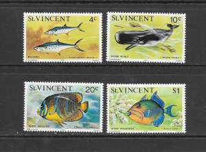 FISH - ST VINCENT #407/422 (DATED 1976) MNH