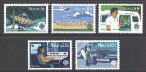Nauru Scott 268/272 - SG283/287, 1983 Communications Year Set MNH**
