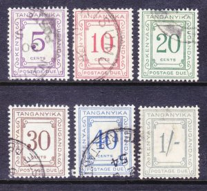 Kenya Uganda & Tanzania J9-12 Used 1935 Complete Postage Due Set