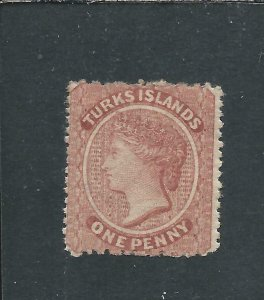 TURKS IS 1873-79 1d DULL RED MM SG 5 CAT £60