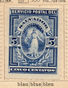 Salvador 1867-88 Early Issue Fine Mint Hinged 5c. NW-11833