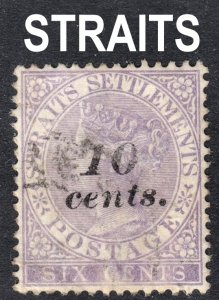 Malaya Straits Settlements Scott 33 wtmk CC VF used.