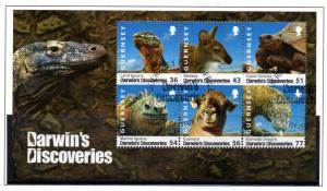 Guernsey Sc 1027a 2009 Darwin's Discoveries stamp sheet used