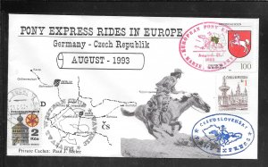 Just Fun Cover #1707 Pony Express Rides In Germany AUG/17/1993 (my4747)
