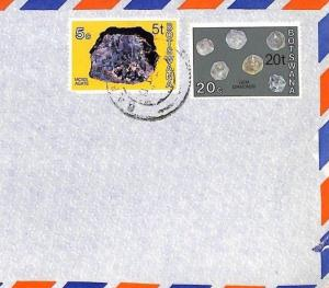 Botswana NEW CURRENCY SURCHARGES Commercial Air Cover DIAMONDS 1976 BT220