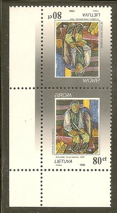 Lithuania   Scott 472a         Painting, Europa                 MNH
