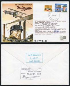 TP1b MR. Harry G. Hawker Pilot Signed