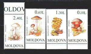 Moldova. 1995. 191-94 from the series. Mushrooms. MNH.