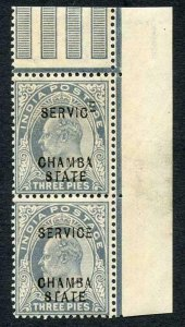 Chamba SGO23 KEVII 3p Slate-grey Variety RAISED E in Service U/M (brown gum)