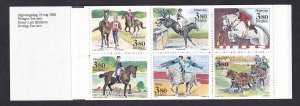 Sweden   #1813a-1818a   MNH  1990  booklet equestrian games