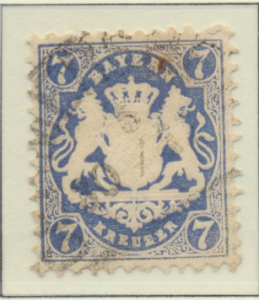 Bavaria (German State) Stamp Scott #35, Used - Free U.S. Shipping, Free World...