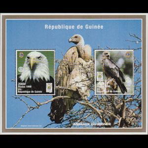 GUINEA 1998 - MI# BF132 S/S Eagle NH
