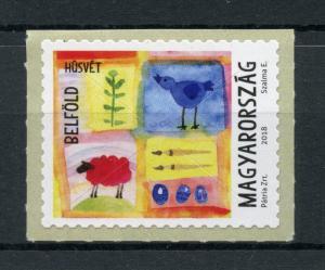 Hungary 2018 MNH Easter Eggs Sheep Birds 1v S/A Set Religion Stamps