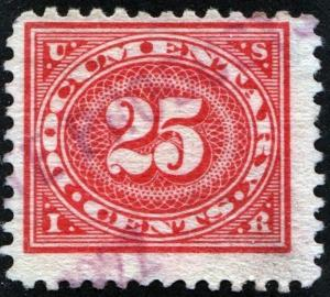 R236 25¢ Documentary Stamp (1917) Used
