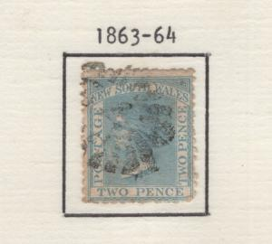 New South Wales 1863-64 Queen Victoria Stamp Scott 48 F