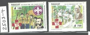 PARAGUAY 1964 RED CROSS #2503 - 2504 MNH