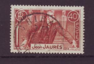 J20123 jlstamps 1936 france used #313 jaures