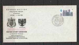 GB, FDC, 1969 Cathedrals, 1x 5d only, German British culture week Dortmund cance