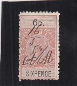 Fiji, Stamp Duty Tax, 6p, Sc #7 (24923)