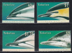 Tokelau # 228-231, Dolphins, NH, 1/2 Cat.