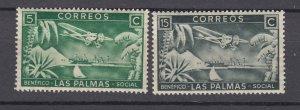 J28790, SPAIN 1937 las palmas social benefits part of set of 3 mh *CINDERELLA*
