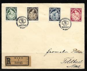 Austria B152-55 1937 Winter Help set Registered FDC First Day Cover