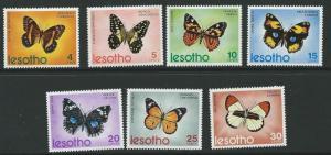 LESOTHO SG239/45 1973 BUTTERFLIES MTD MINT