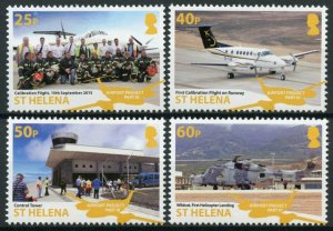 St Helena Aviation Stamps 2018 MNH Airport Project III Helicopters 4v Set