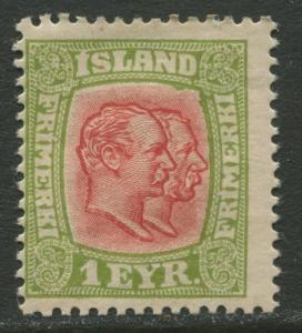 Iceland - Scott 99 - King Christian IX -1915 - Mint - Single 1a Stamp