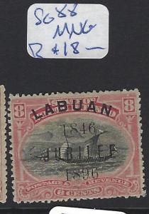 LABUAN   (PP2807B)   JUBILEE  8C   BOAT   SG 88    MNG