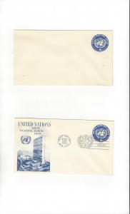 United Nations U2, Postal Stationery,  Mint & Fleetwood FDC
